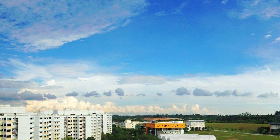 Blue sky, white clouds Clouds And Sky Cloudporn Skyporn Singapore