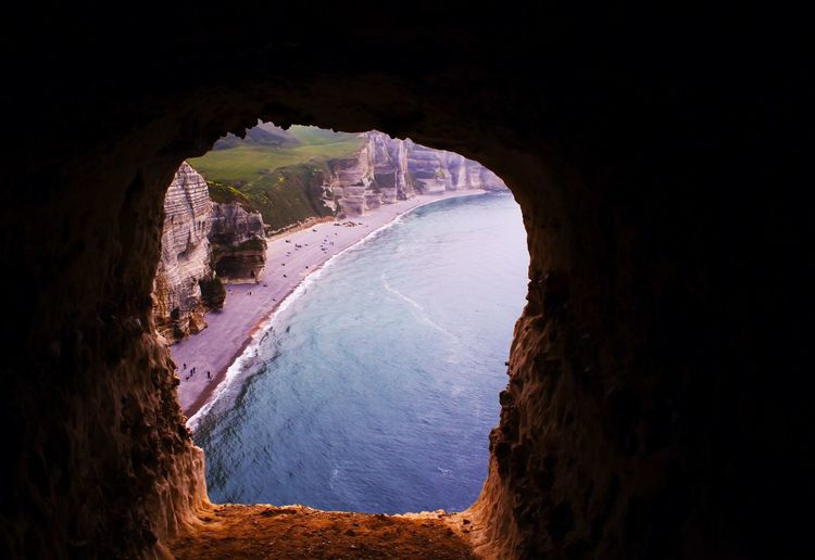 Etretat ... Nature Cave Sea Beauty In Nature