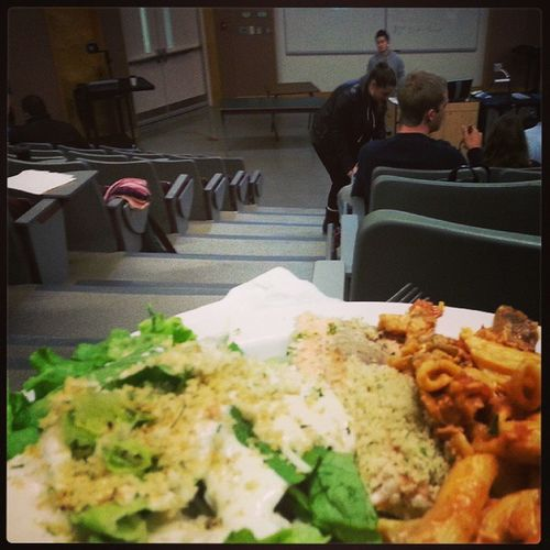 Set Rep meeting Freedinner Salmon Salad Schoollife hardwork