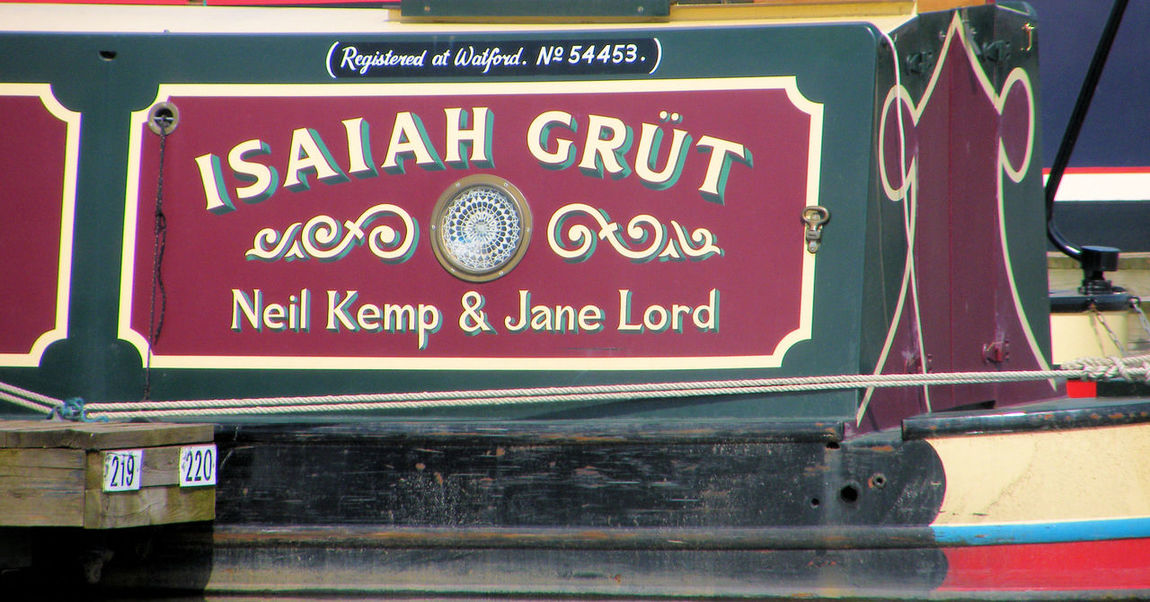 Barge Canal Art Canal Boat Information Sign Isaiah Life On The Canals Narrow Boat Red Text Working Boat British Waterways Canal