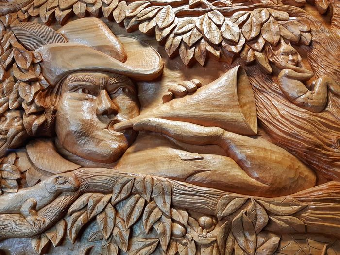 😲WAKE UP😲 Lizard Bums Wood - Material Full Frame Arts And Crafts Interior Decoration Hat Human Representation Feather  Wood Arts Culture And Entertainment Elf Pixie Horn Trumpet Wood Carving