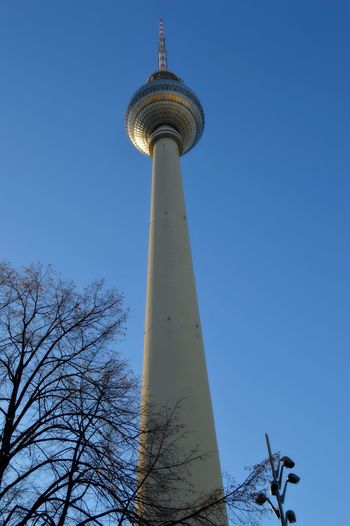 Alexanderplatz Antenna - Aerial Architecture Broadcasting Building Exterior Built Structure City Clear Sky Communication Cultures Day Dome Global Communications Low Angle View No People Outdoors Sky Sphere Tall - High Television Tower Tourism Tower Travel Travel Destinations Tree