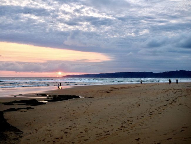 Wilderness, South Africa Beach Beach Volleyball Beauty In Nature Cloud - Sky Day Horizon Over Water Incidental People Nature Outdoors People Sand Scenics Sea Shore Sky Sunset Tranquil Scene Tranquility Vacations Water Wave