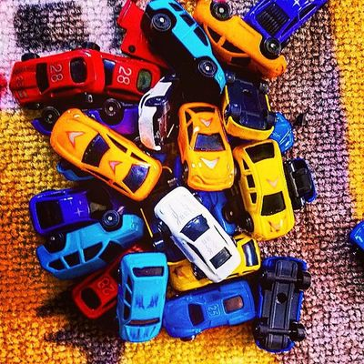 Goodmorning and welcome to todays traffic report: We are receiving reports of a pile up on sitting room highway do take alternative routes to avoid if you can. Emergency services have been dispatched, bribed with milk and biscuits for instant clean up. However we expect normal service to resume sometime later this evening after bedtime. Little_munchkin_patch_Childcare