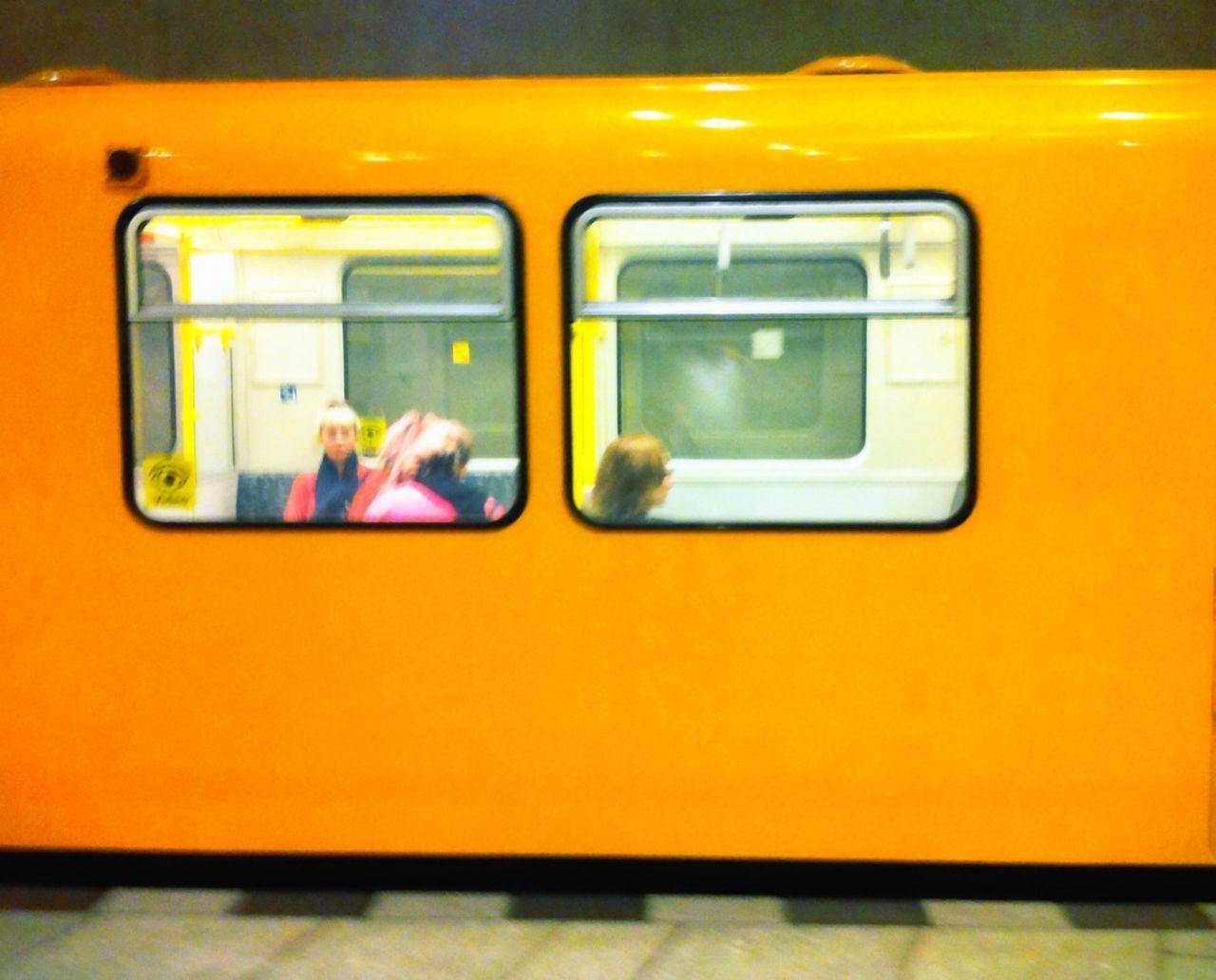 TRAIN PASSING THROUGH TRAIN