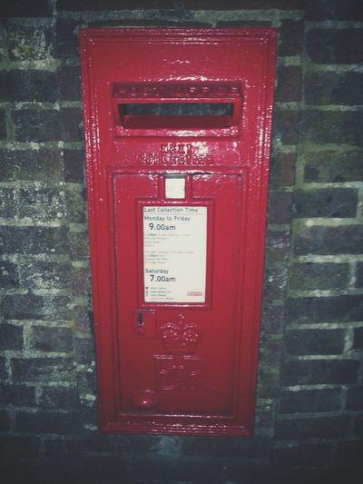 Post Box  Red Post Box