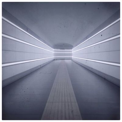 No People Architecture Neon Indoors  Color Photography Minimalism Tunnel Underground Underground Station  On My Way