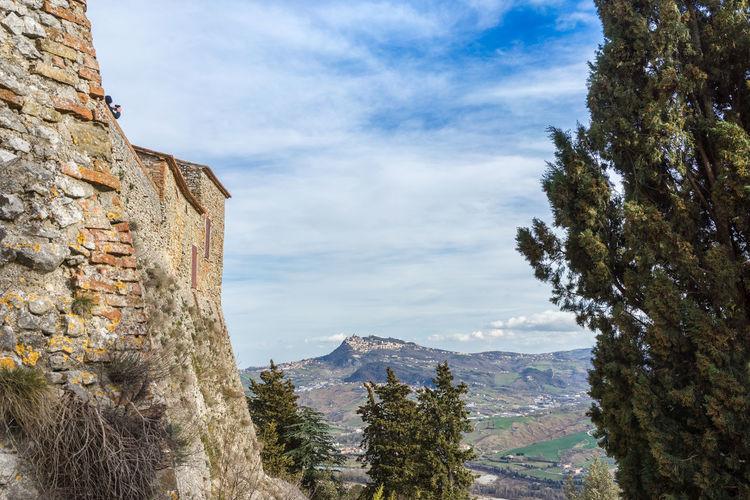 Old castle of montebello in marecchia valley