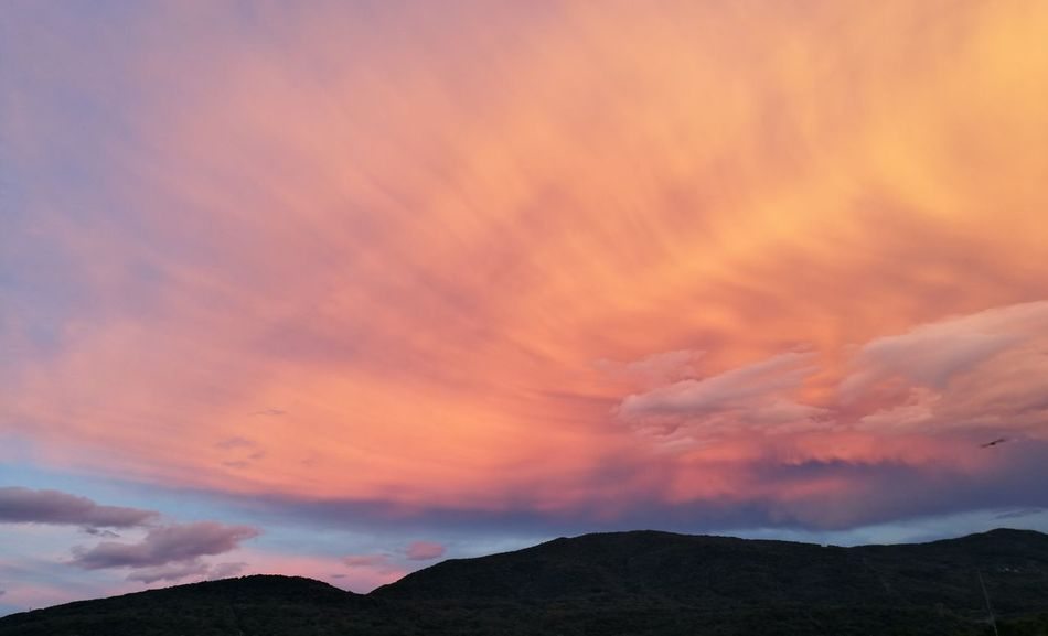 Mountain Sunset Dramatic Sky Sky Landscape Cloud - Sky