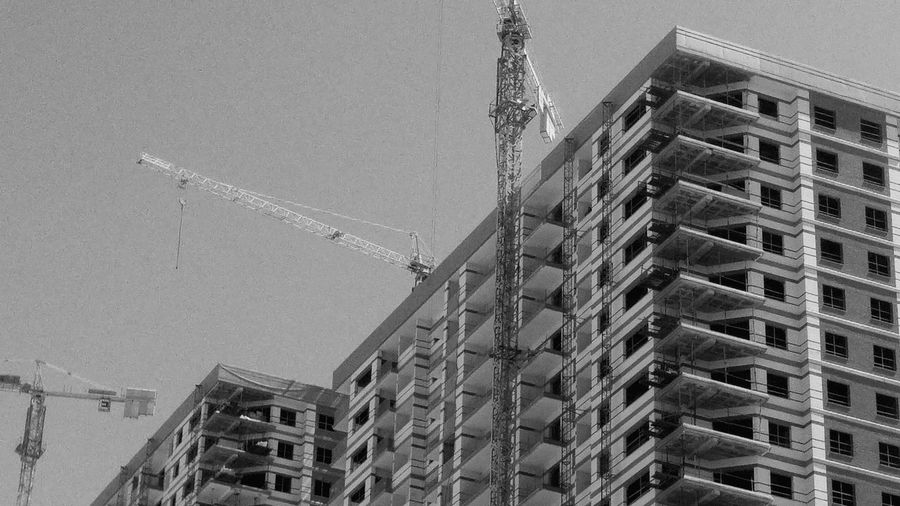 Built Structure Architecture Building Exterior Residential Project Construction Site Construction Work Architecture No People Blackandwhite