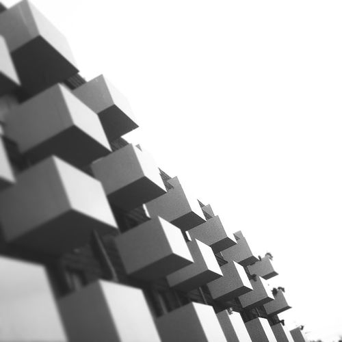 Architecture Architecture_bw Art Black & White Future Geometrie Pixel Quadrate Squares