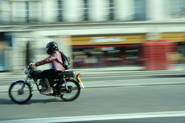 Speed Blurred Motion Speed Motion Transportation Full Length Riding Road Mode Of Transport One Person Real People Motorcycle Outdoors Helmet Land Vehicle Day Sports Race Men Headwear Sport Biker London The Street Photographer - 2017 EyeEm Awards