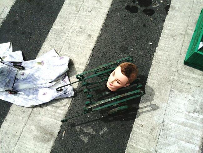 Car Boot Sale Flea Market Scary Dolls Dolls Head Dress Zebra Crossing Street Life Mannequin Head Mannequin Head Shot