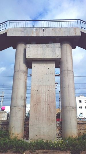 BRIDGE Bridge - Man Made Structure Architectural Column Concrete Outdoors No People Day Sky Arabian Arabic XPERIA Xperia Z2 XperiaZ1 Xperiaphotography Empty Clear Sky Sunlight Close-up Finance Savings Fragility Day Lily Arabic Art Adult One Person Flower