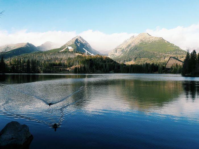 Mountain Reflection Mountain Range Snow Landscape Water No People Cloud - Sky Sky Outdoors Nature Day High Tatras Lake Slovakia
