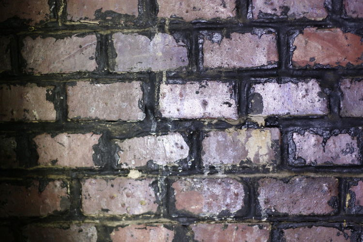 Wall Full Frame Wall - Building Feature Built Structure No People Architecture Brick Wall Brick Backgrounds Pattern Close-up Textured  Outdoors Day Rough In A Row Old Repetition Damaged Nature