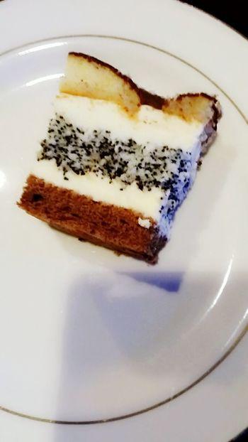 poppySeedCake Plate White Poppy Seed Cake Poppy Seed Food And Drink Sweet Food Dessert Food Indoors  Indulgence SLICE