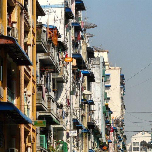 Houses of yangon Yagon Myanmar Nofilter