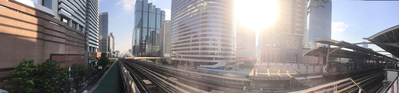 EyeEm Selects Architecture Lens Flare Bangkok Urban Skyline Transportation Skyscraper Urban Exploration
