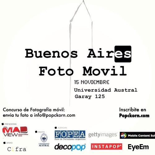 Falta poco para el Buenos Aires Foto Movil Popckorn Inscribite.