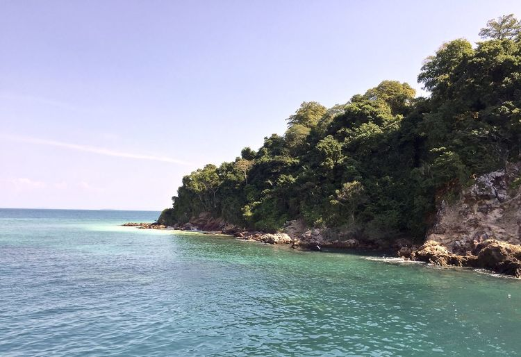 Beach Beauty In Nature Blue Clear Sky Cliff Coastline Copy Space Day Horizon Over Water Idyllic Nature Rippled Scenics Sea Sky Spotted In Thailand Tranquil Scene Tranquility Tree Water Waterfront