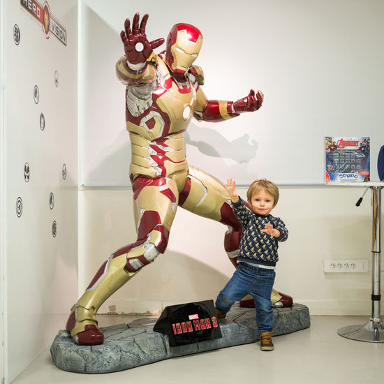 Mon fils en mode Iron Man Iron Man Child Full Length Childhood Males  Fun Portrait Casual Clothing