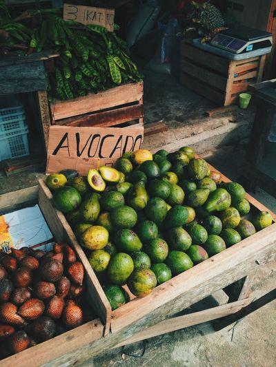Avocado for sale in market