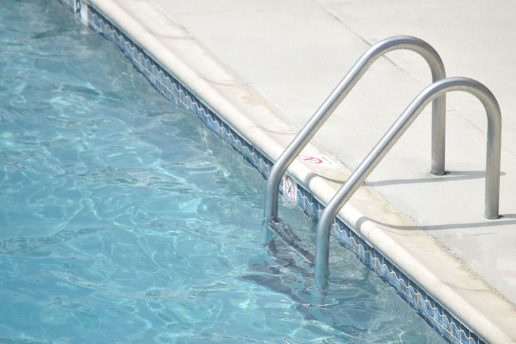 Swimming Pool Ladder Summer Empty No Filter, No Edit, Just Photography Water Wildwood Nj The Color Of Sport