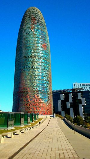 No Edit/no Filter Barcelona Torre Agbar Taking Photos Architecture