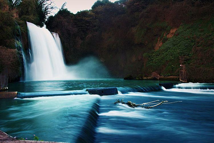 Long Exposure Of Waterfall