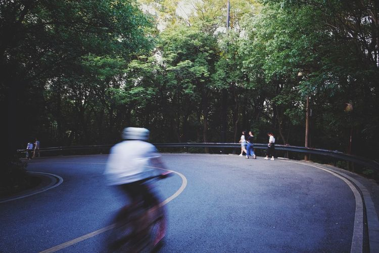 Leisure Activity Real People People Outdoors Sport Motion Lifestyles Light And Shadow Travel Landscape Changsha, Hunan Bicycling FUJIFILM X-T10 Road Speed Bicycle