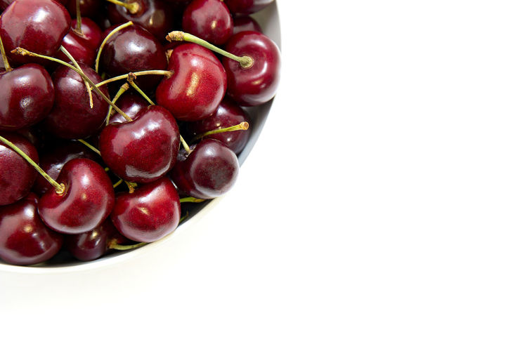 Bowl Of Fruit Cherries Bowl Of Cherries Bowl Of Food Cherry Close-up Copy Space Directly Above Food Food And Drink Freshness Fruit Fruit Bowl Group Of Objects Healthy Eating Large Group Of Objects No People Red Ripe Snack Still Life Studio Shot Wellbeing White Background Yummy
