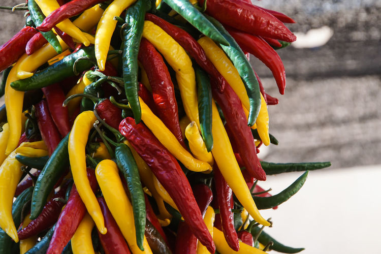 Close-up of chili pepper at market