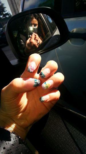 Nails <3 Love My Nails :*  That's Me Taking Photos Colorsplash Color Explosion Black Brilliant Colour Happiness ♡ 💅❤😎
