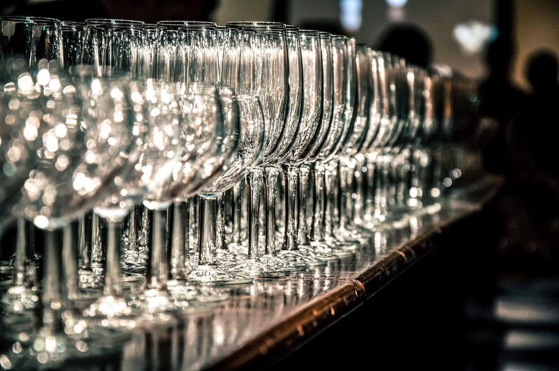 Wineglasses in a wedding party Bar Catering Glass Glassware Still Life Vasos De Cristal Wineglass