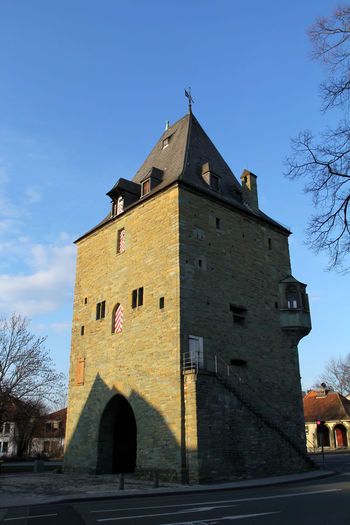 Architecture Blue Building Exterior Day Hellweg History No People Osthofentor Outdoors Religion Sandstein Sky Soest Stadtmauer Stadttor Stadtturm Tower