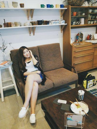 Portrait My Lovely Girl Coffee Break Coffee Shop