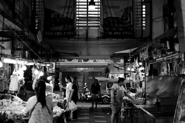 Samrong Market Market Street Market Adult Architecture Building Exterior Built Structure City City Life Consumerism Crowd Group Group Of People Illuminated Large Group Of People Lifestyles Market Men Night Real People Retail  Shopping Women
