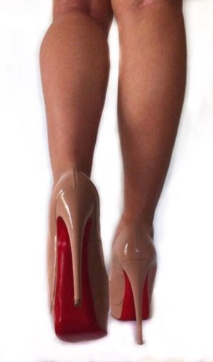 Louboutin and I High Heels Red One Woman Only Legs Shoe Fetish Human Leg alicia