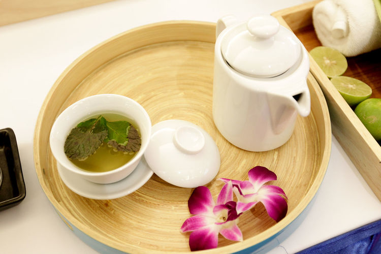 Bowl Close-up Cup Drink Flower Flowering Plant Food Food And Drink Freshness Healthy Eating High Angle View Indoors  Japanese Food No People Plant Refreshment Still Life Table Tea Teapot Tray Wellbeing