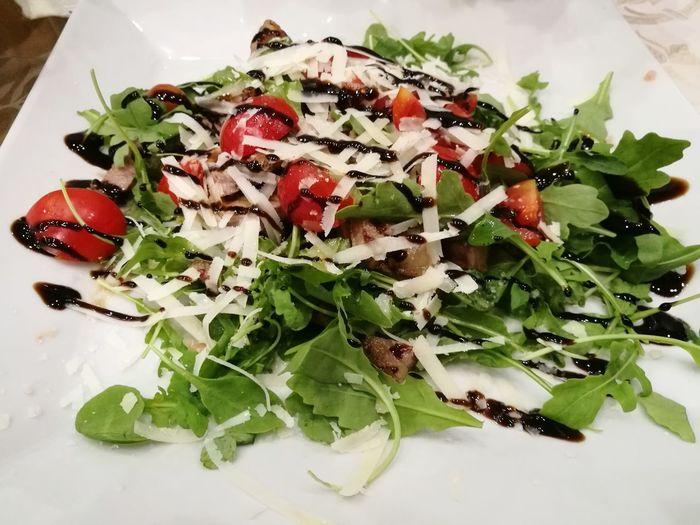 Tagliata Venafro Greek Food Herb Leaf Feta Cheese Plate Salad Vegetable Close-up Food And Drink