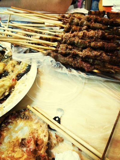 烧烤神码的,最爱了! Having Fun Seafood Hungry BBQ