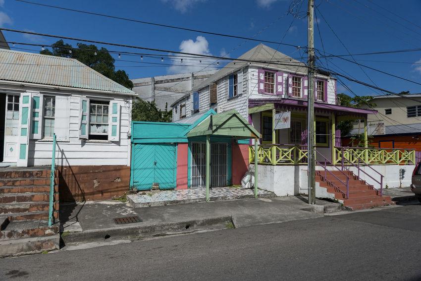 Antigua, City of Saint John's Antigua Antilles State City Of Saint John's Cloud Colors Islands Over The Wind Saint John's Antilles Blue Caribbean Colorfull Commonwealth House Sky Small Antilles Street White