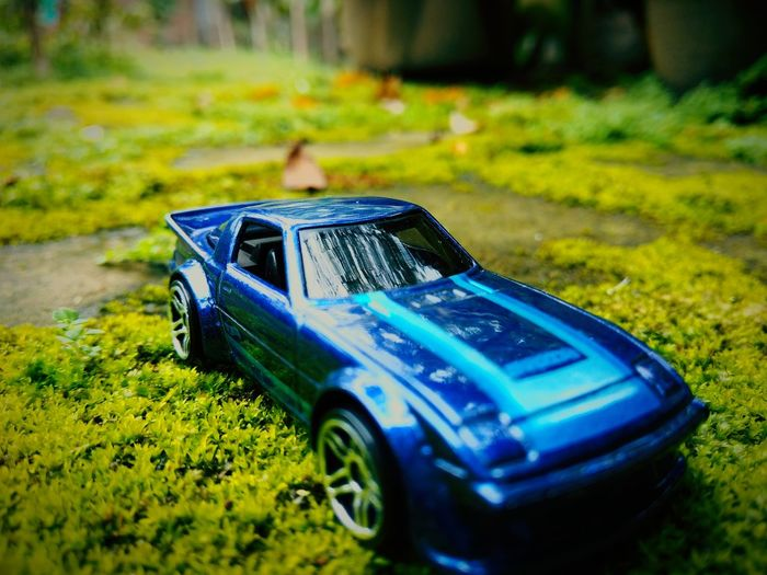 Mini fast car Road Tire Racing Fast Ground Sport Super Glass Mini Diecast Diecastphotography Diecastcars DiecastIndonesia Grass No People Car Blue Day Close-up Nature Outdoors