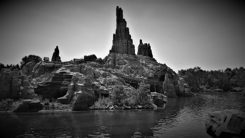 Big Thunder Mountain Railroad - Frontierland - Disneyland Resort Paris 2017 Black & White Black & White Photography Architecture Big Thunder Mountain Big Thunder Mountain Railroad Black & White Collection Black And White Black And White Collection  Black And White Photography Black&white Black&white Photography Blackandwhite Blackandwhite Photography Blackandwhitephoto Blackandwhitephotography Building Exterior Built Structure Day Nature No People Outdoors Sky Spirituality Travel Destinations Water