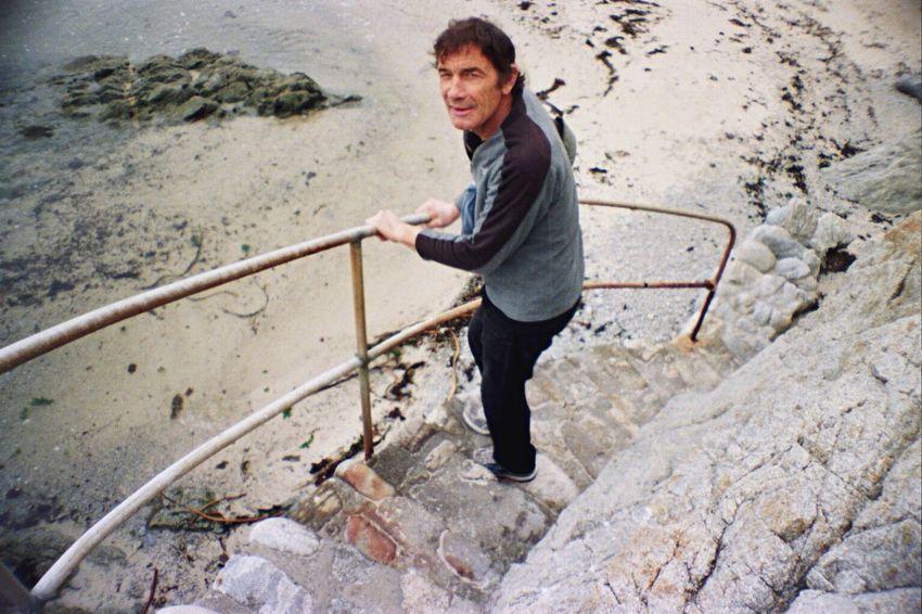 One Person One Man Only People Rock Beach Portra800 La Sardina Koduckgirl Film Carmel Highlands