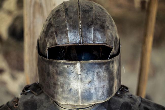 Belarus Castle Close-up Detail Knight  Lida Metallic Old Part Of Selective Focus