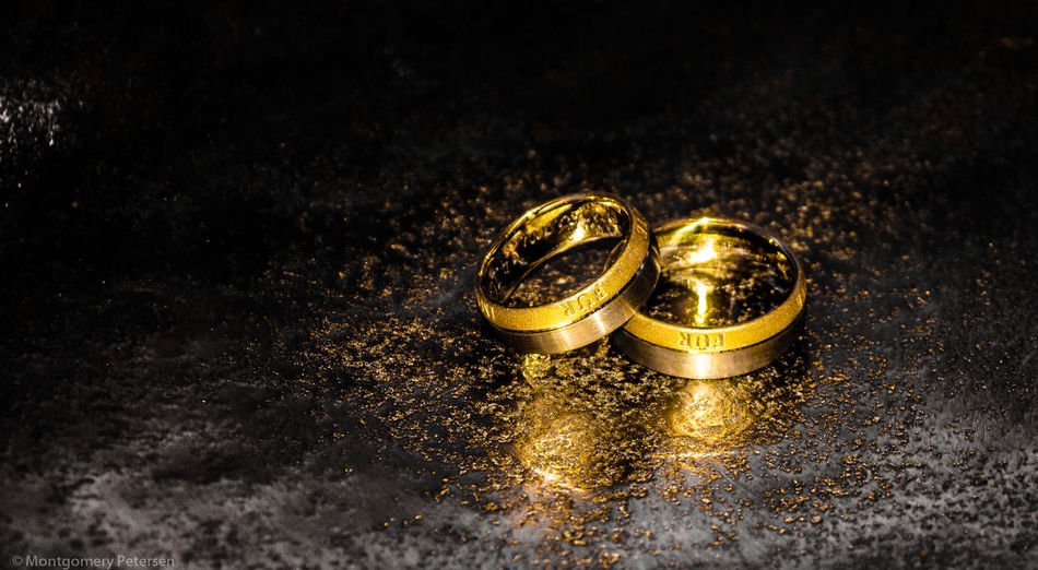 Gold Colored Black Background Wedding Photography Wedding Ring Celebration Gold EyeEm Best Shots EyeEm Best Edits EyeEm Gallery