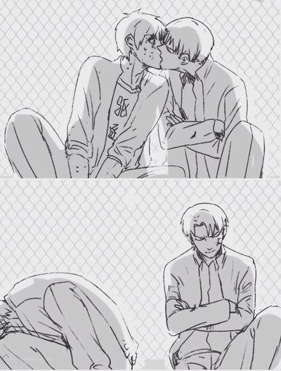 Gay Boys Love Otaku Anime Manga Fujoshi Yaoimanga ShingekinoKyojin Riren Heichou