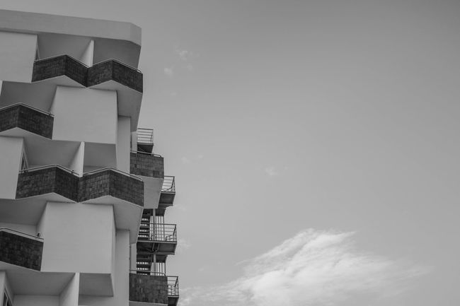 Black & White Architecture Black And White Black And White Friday Building Exterior Built Structure City Cloud - Sky Day Low Angle View Modern Monchrome No People Outdoors Sky